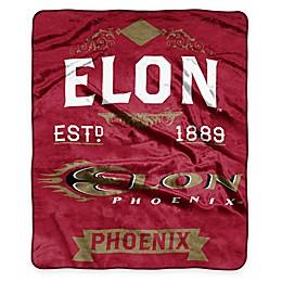 NCAA Elon University Super Plush Raschel Throw Blanket