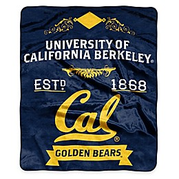 NCAA University California, Berkeley Super Plush Raschel Throw Blanket