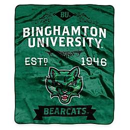 NCAA Binghamton University Super Plush Raschel Throw Blanket