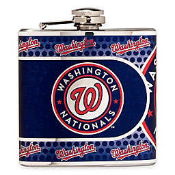 MLB Washington Nationals Stainless Steel Metallic Hip Flask