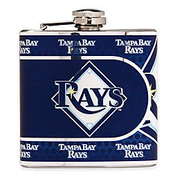 MLB Tampa Bay Rays Stainless Steel Metallic Hip Flask