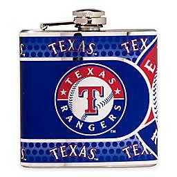 MLB Texas Rangers Stainless Steel Metallic Hip Flask