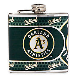 MLB Oakland A's Stainless Steel Metallic Hip Flask