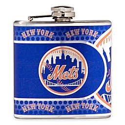 MLB New York Mets Stainless Steel Metallic Hip Flask