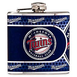 MLB Minnesota Twins Stainless Steel Metallic Hip Flask