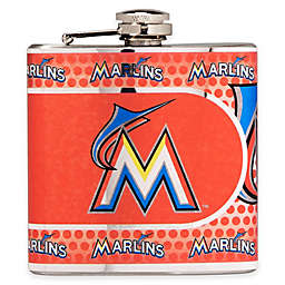 MLB Miami Marlins Stainless Steel Metallic Hip Flask