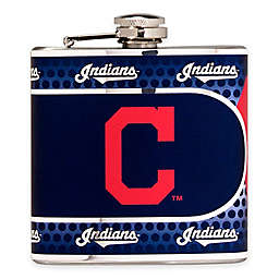 MLB Cleveland Indians Stainless Steel Metallic Hip Flask