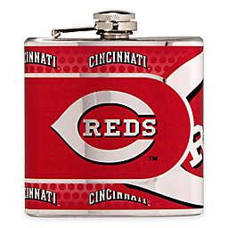 MLB Cincinnati Reds Stainless Steel Metallic Hip Flask