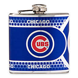 MLB Chicago Cubs Stainless Steel Metallic Hip Flask
