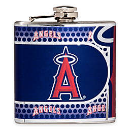 MLB Los Angeles Angels Stainless Steel Metallic Hip Flask