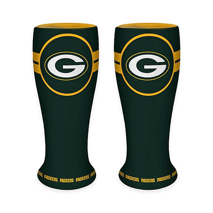 Alternate image 1 for NFL Green Bay Packers Ceramic Collectible Mini Pilsner Glass (Set of 2)