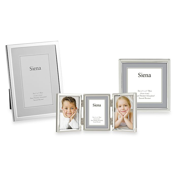 Alternate image 1 for Siena Silver Plated Narrow Plain Picture Frames