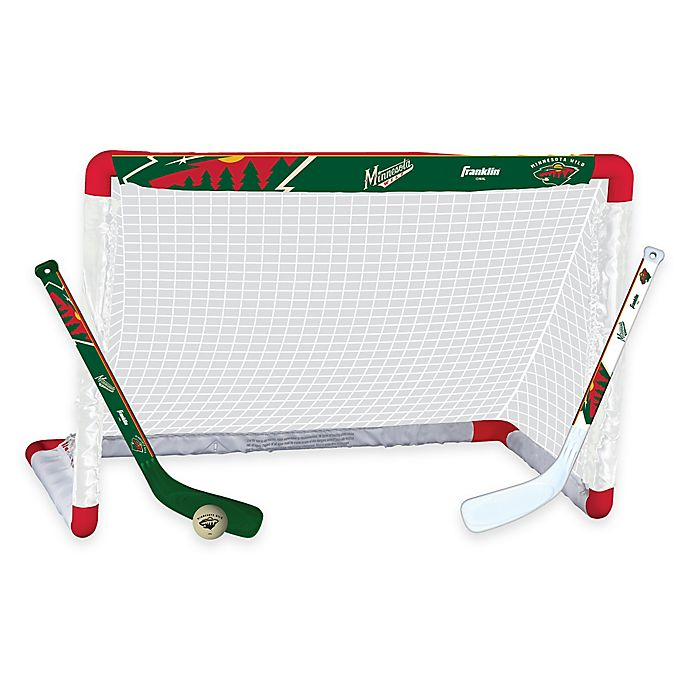Alternate image 1 for NHL Minnesota Wild Mini Hockey Set