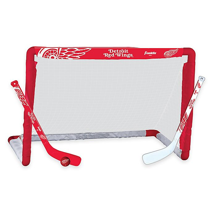 Alternate image 1 for NHL Detroit Red Wings Mini Hockey Set