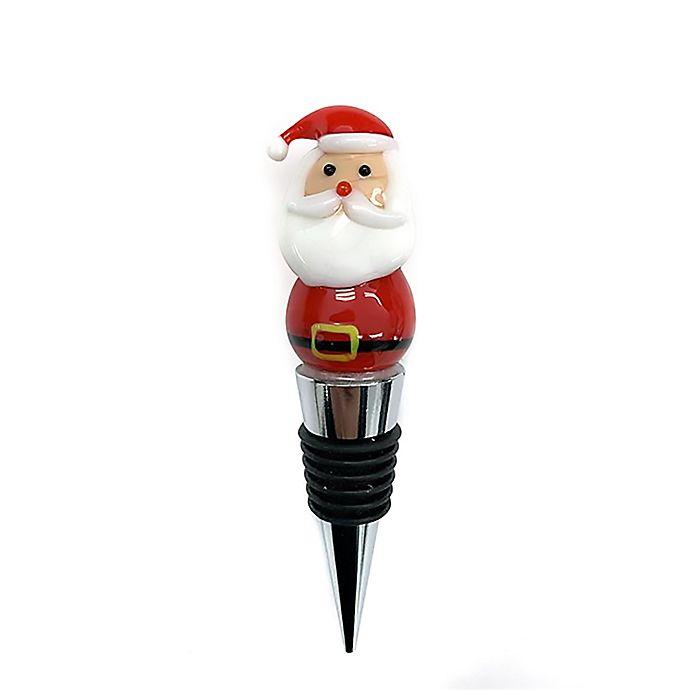 Alternate image 1 for Santa Wine Bottle Stopper
