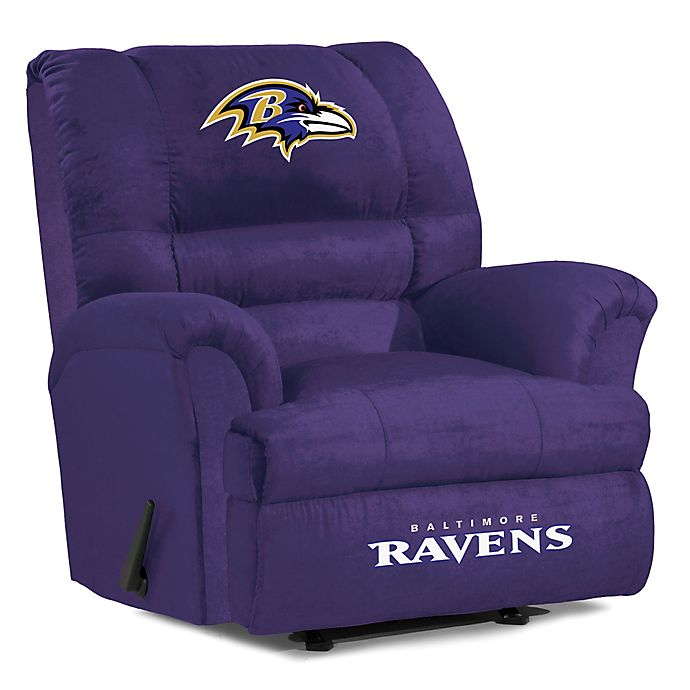 Alternate image 1 for NFL Baltimore Ravens Microfiber Big Daddy Recliner