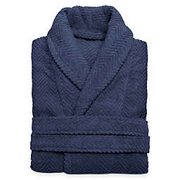 Linum Home Textiles Herringbone Unisex Turkish Cotton Bathrobe