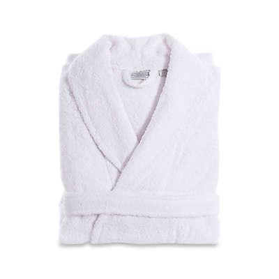 Linum Home Textiles Turkish Cotton Terry Unisex Bathrobe in White