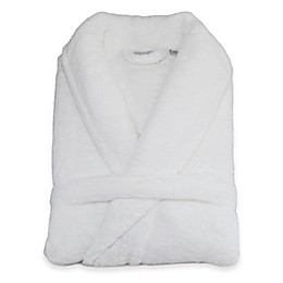 Linum Home Textiles Unisex Plush Microfiber Bathrobe in White
