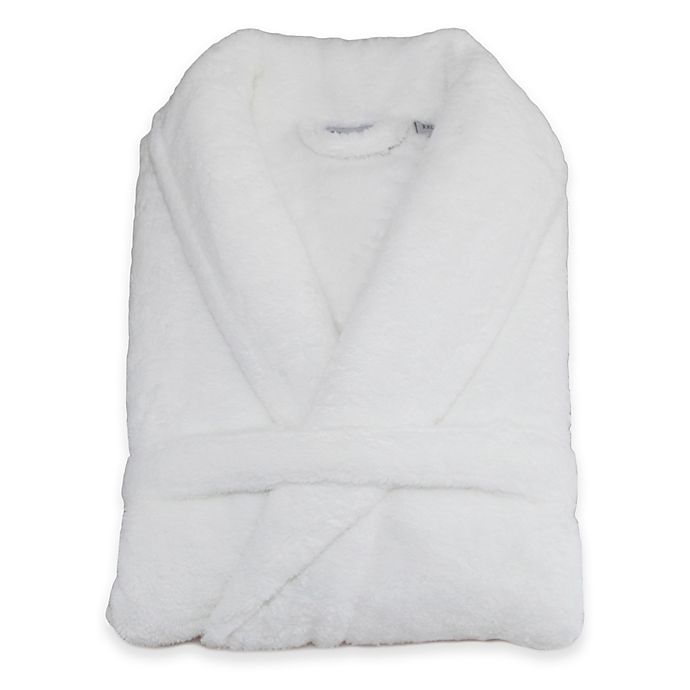 Alternate image 1 for Linum Home Textiles Unisex Plush Microfiber Bathrobe in White