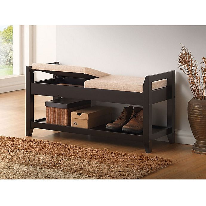 Amazing Baxton Studio Maudie Wooden Shoe Storage Bench Bed Bath Ocoug Best Dining Table And Chair Ideas Images Ocougorg