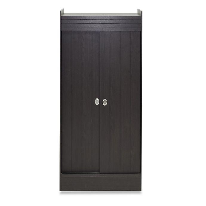 Alternate image 1 for Baxton Studio Glidden 45-Inch Double Door Shoe-Rack Cabinet in Espresso
