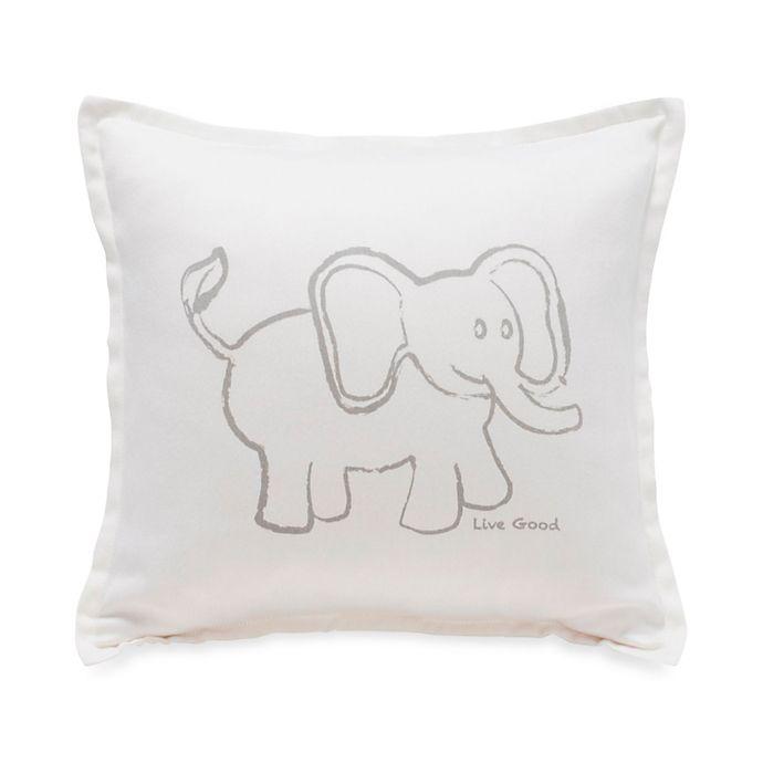 Alternate image 1 for Live Good™ Organic Supima® Cotton Elephant Endangered Species Pillow