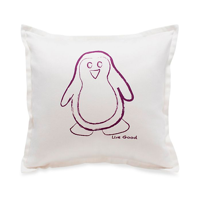 Alternate image 1 for Live Good™ Organic Supima® Cotton Penguin Endangered Species Pillow
