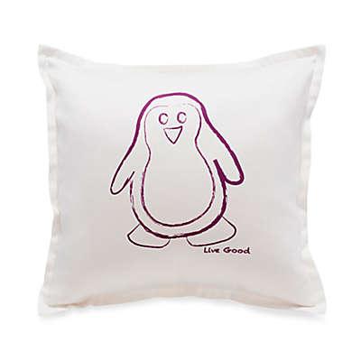 Live Good™ Organic Supima® Cotton Penguin Endangered Species Pillow