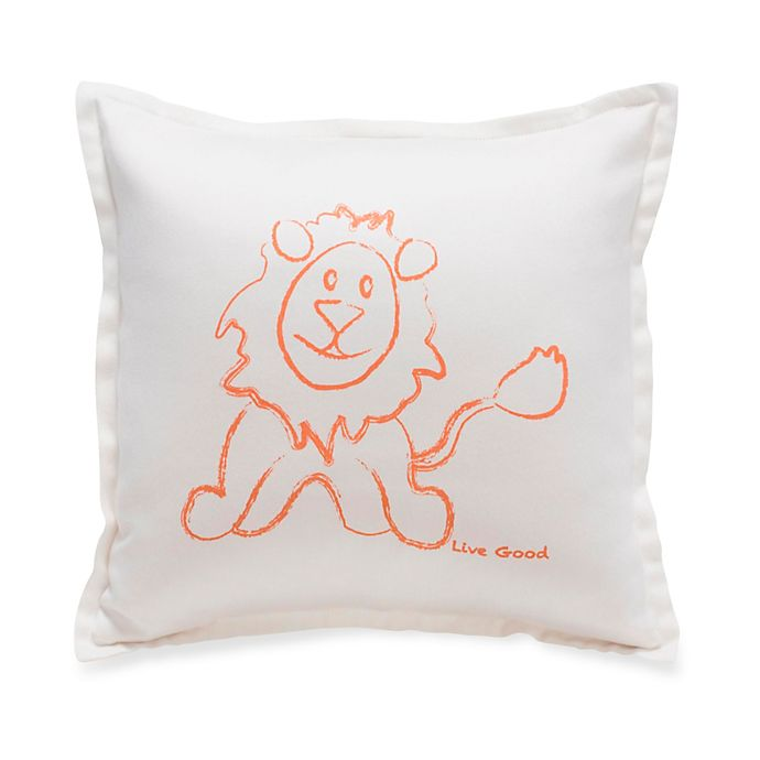 Alternate image 1 for Live Good™ Organic Supima® Cotton Lion Endangered Species Pillow
