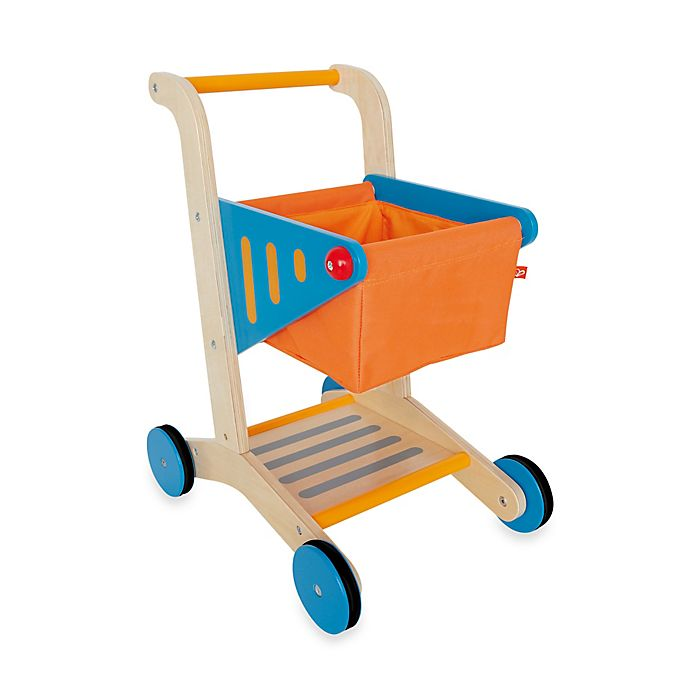 Alternate image 1 for Hape Playfully Delicious Wooden Shopping Cart