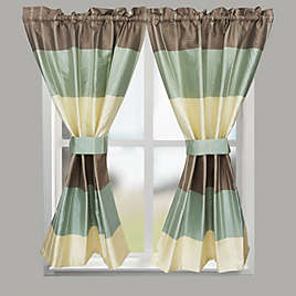 CroscillR Fairfax 64 Inch Rod Pocket Bath Window Curtain Panel