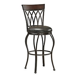 American Heritage Palermo Swivel Stool in Grey