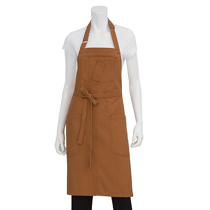 Alternate image 1 for Chef Works® Rockford Canvas Bib Apron in Nutmeg