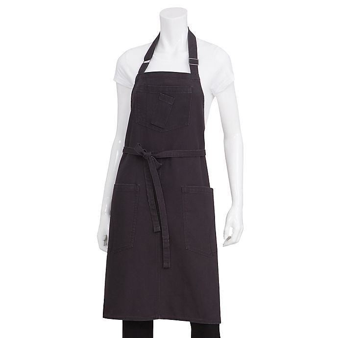 Alternate image 1 for Chef Works® Rockford Canvas Bib Apron in Gray