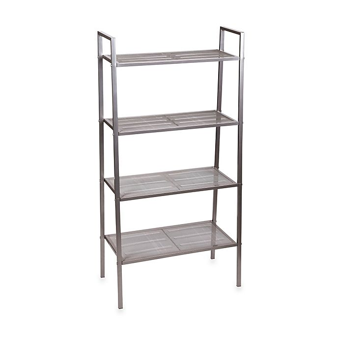 Alternate image 1 for Household Essentials® 4-Tier Tapered Storage Rack in Gunmetal