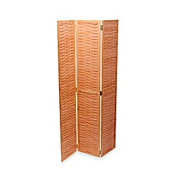 Household Essentials® Bamboo Basketweave Tri-Fold Screen in Natural