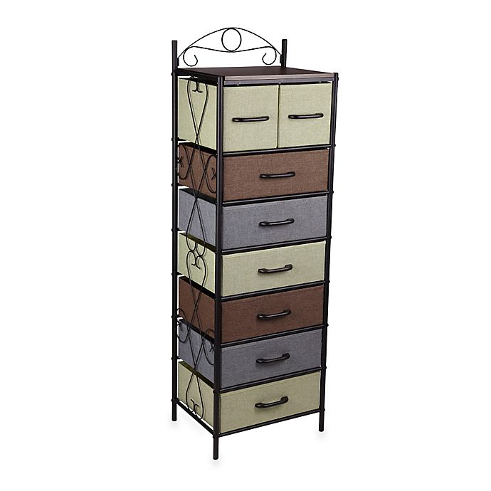 Alternate image 1 for Household Essentials® 8-Drawer Tower in Black