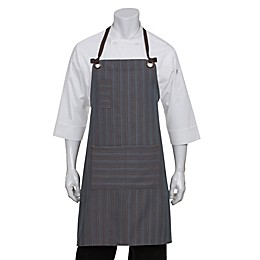 Chef Works® Striped Brooklyn Bib Apron in Blue/Chocolate