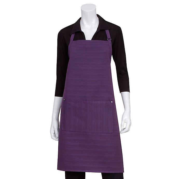 Alternate image 1 for Chef Works® Harlem Bib Apron in Purple