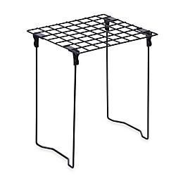 Honey-Can-Do® Stackable Steel Folding Locker Shelf in Black