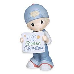 "Precious Moments® ""You're The Greatest Grandma"" Boy Holding Sign Figurine"