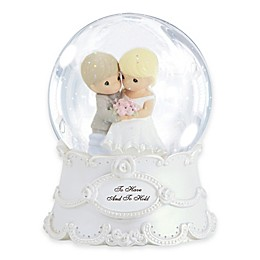 """Precious Moments® """"To Have and to Hold"""" Musical Water Globe"""