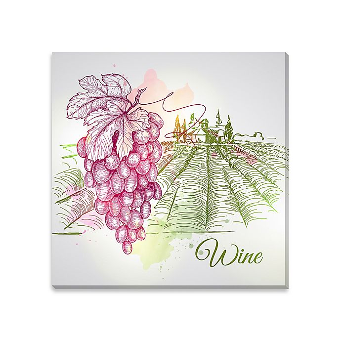 Alternate image 1 for Watercolor Wine Canvas Wall Art