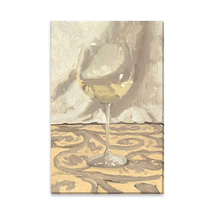 Alternate image 1 for White Wine on Canvas Wall Art