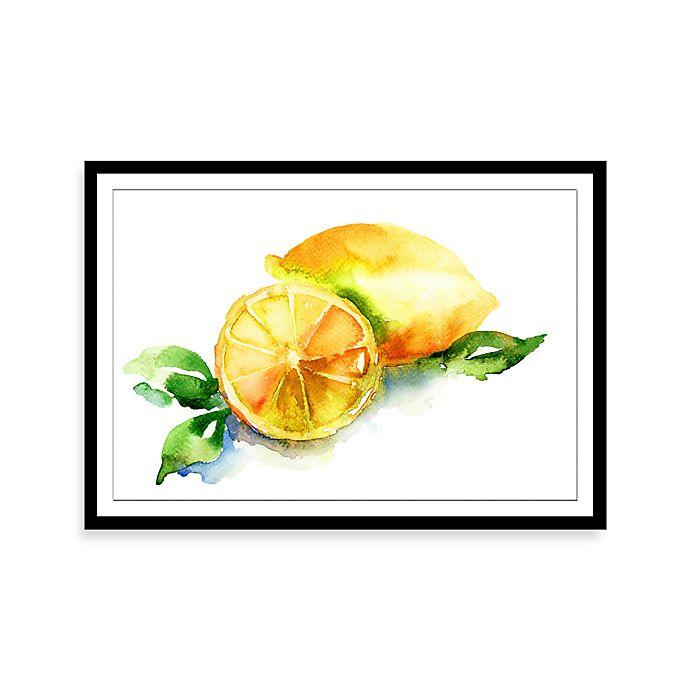 Alternate image 1 for Watercolor Lemon Framed Print Wall Art