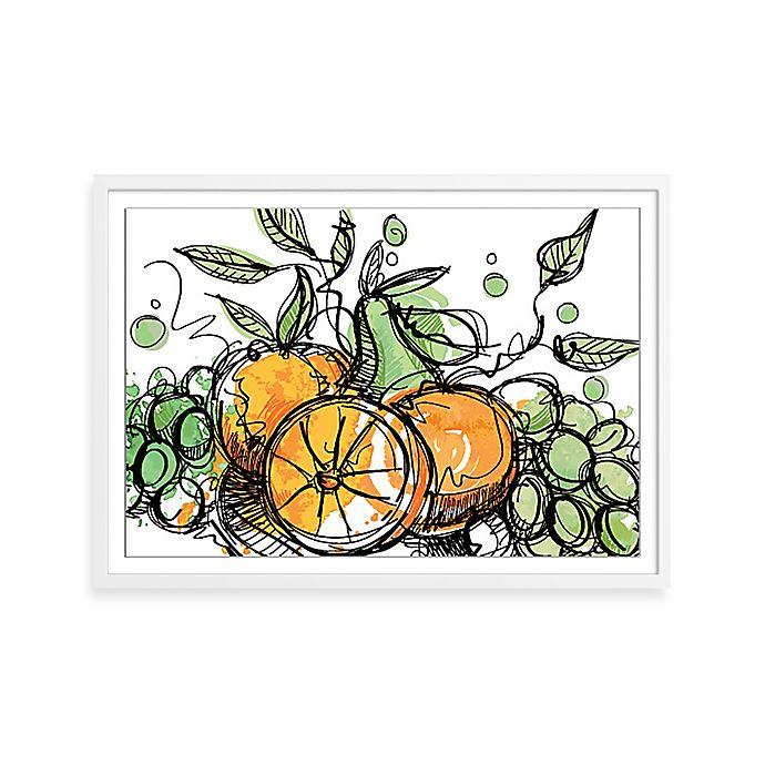 Alternate image 1 for Watercolor Fresh Fruit Framed Wall Art