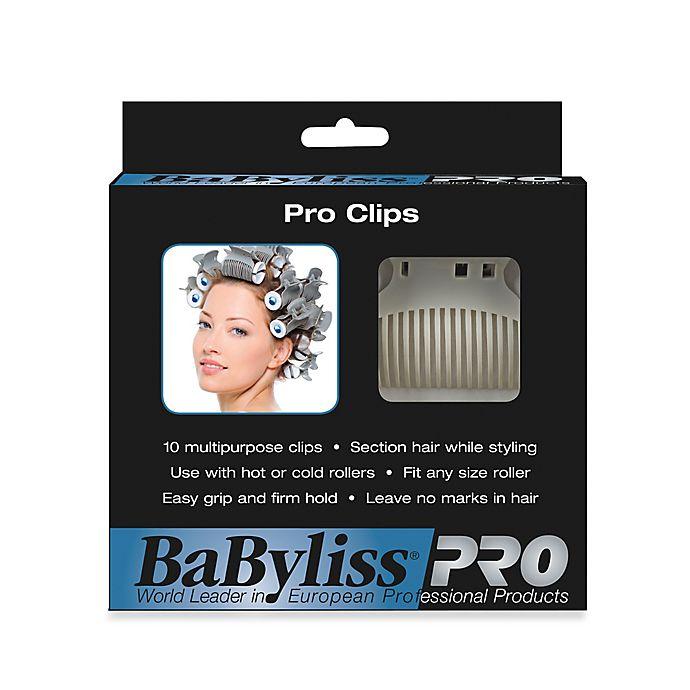 Alternate image 1 for BaByliss Pro 10-Pack Super Hair Roller Clips