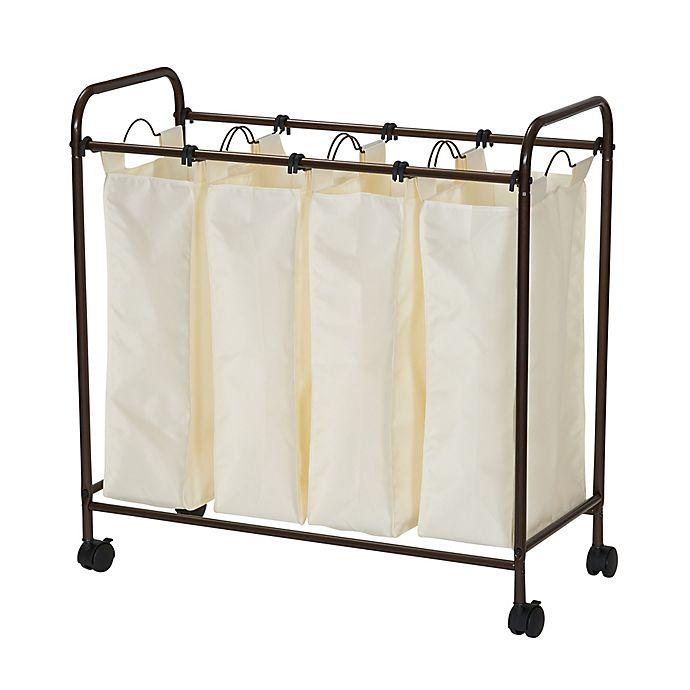 Alternate image 1 for Household Essentials® Rolling Quad Laundry Sorter