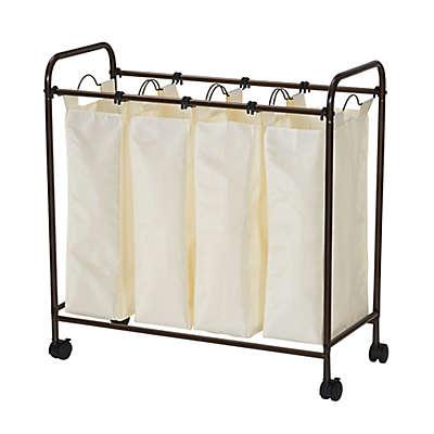 Household Essentials® Rolling Quad Laundry Sorter